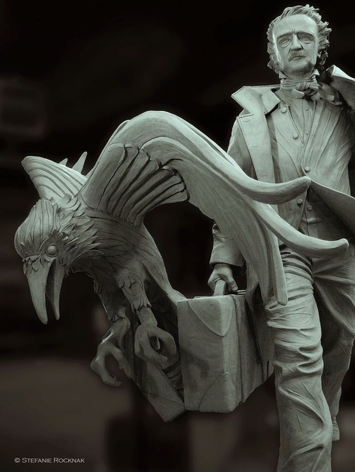 Ghostly Edgar Allan Poe Statue is Coming to Boston - My Modern Met