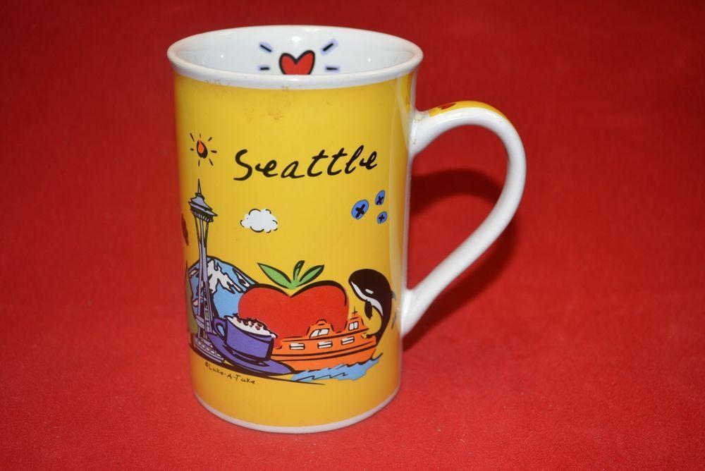 LukeATuke Subway SEATTLE Coffee Cup Mug Michael's