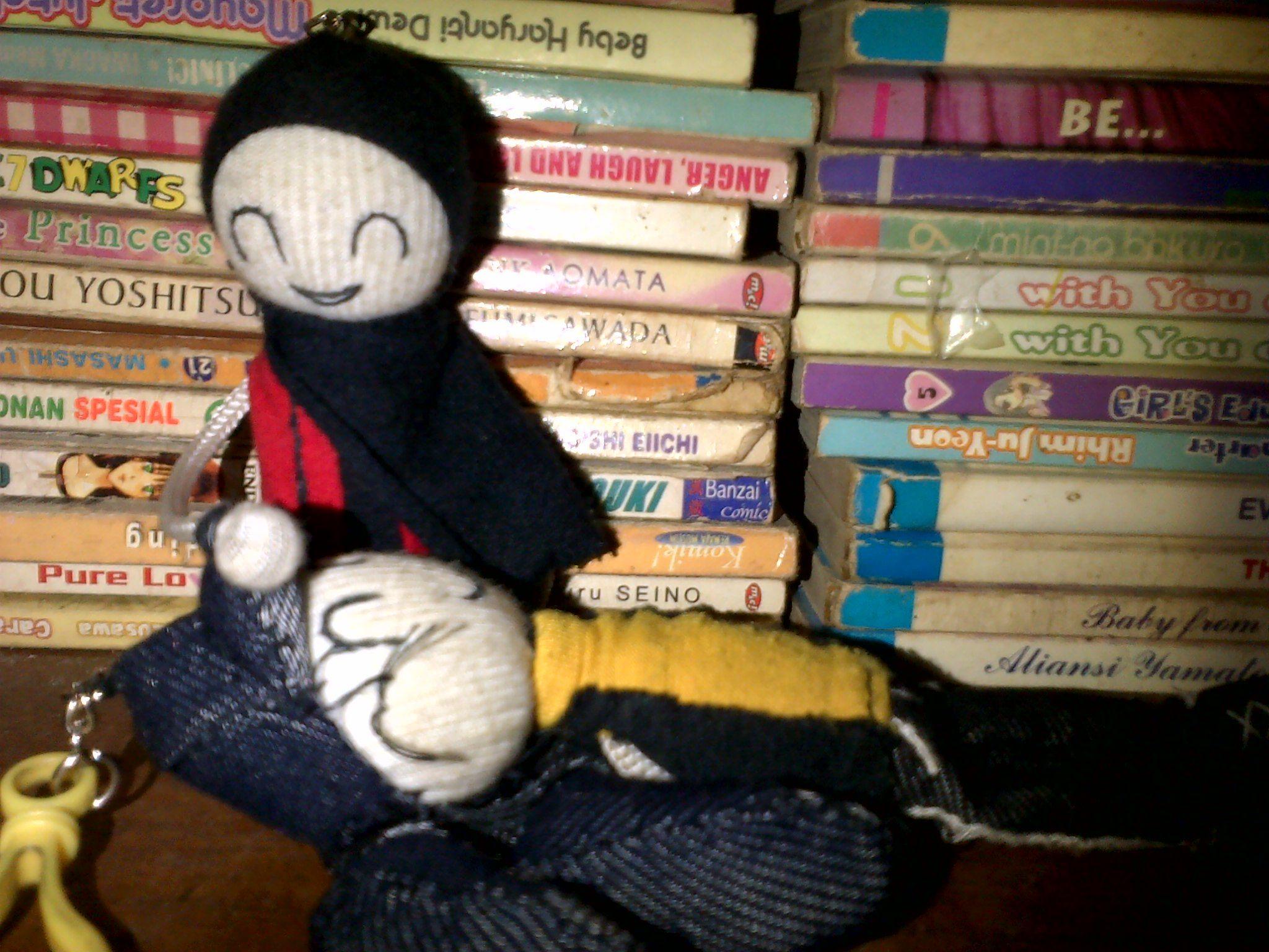 Boneka imut dari bahan kaos (Cute doll from t-shirt)
