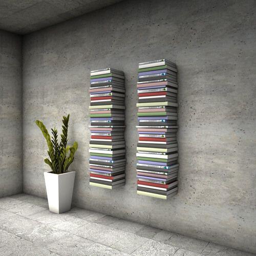 Biblioteka NERO - półki na książki ze stali nierdzewnej - Twoja Siesta