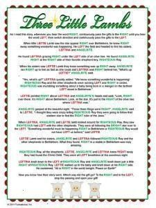 result for christmas left right ga Image result for christmas left right ga  Right Left Christmas Game For a fun way to do a gift exchange or choose a prize winner use th...