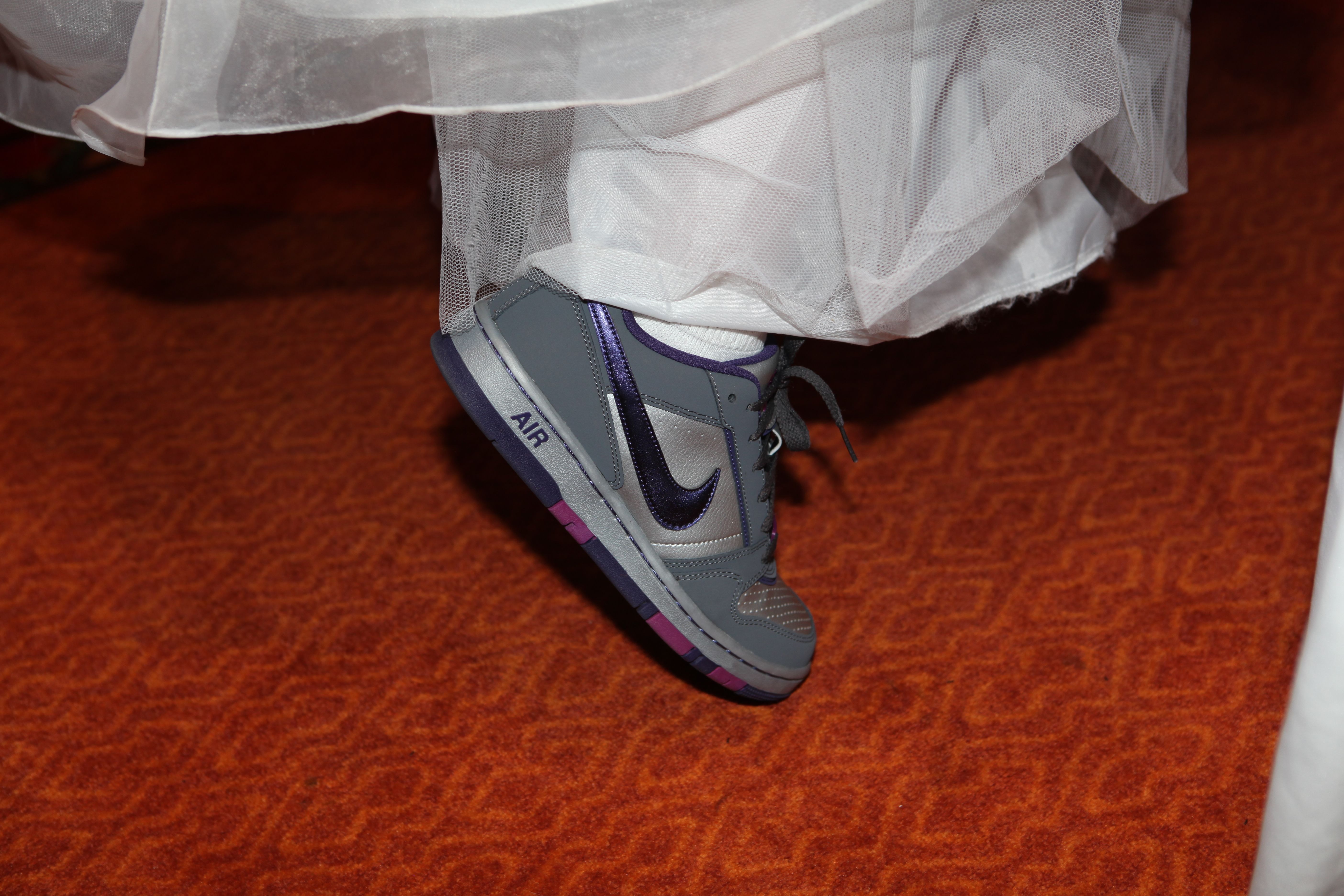 Comfy shoes for the wedding reception. Party time!