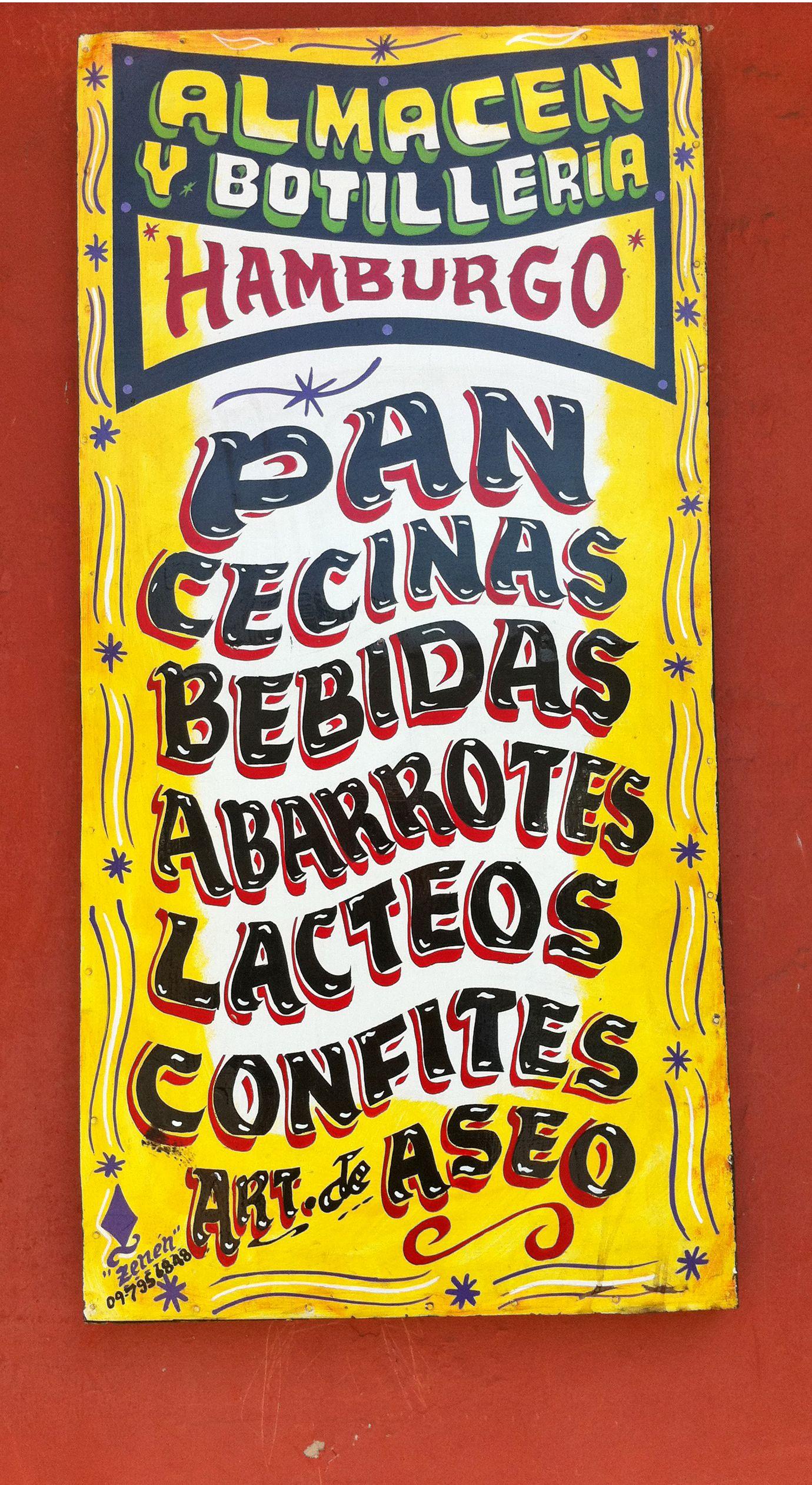 Hand Painted Shop Sign In Santiago Chile Photo By Ellen