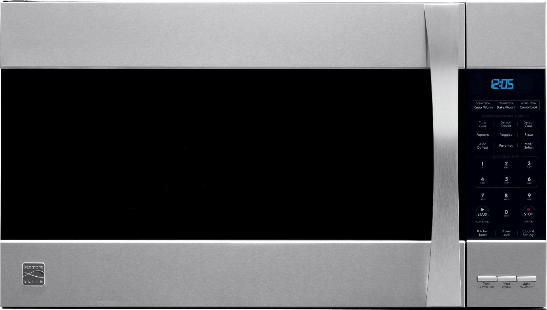 Home Liances Kenmore Elite 1 8 Cu Ft Over The Range Microwave Stainless