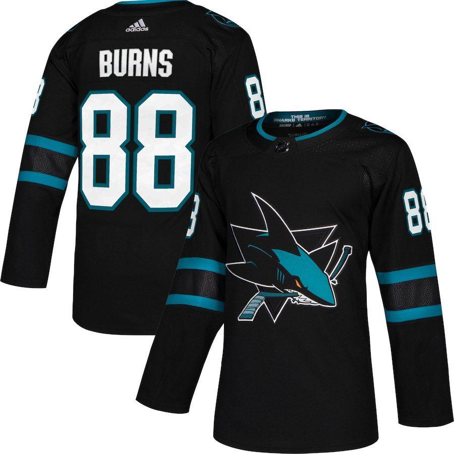 huge discount ac3a9 cda0d Men's San Jose Sharks Brent Burns adidas Black Alternate ...