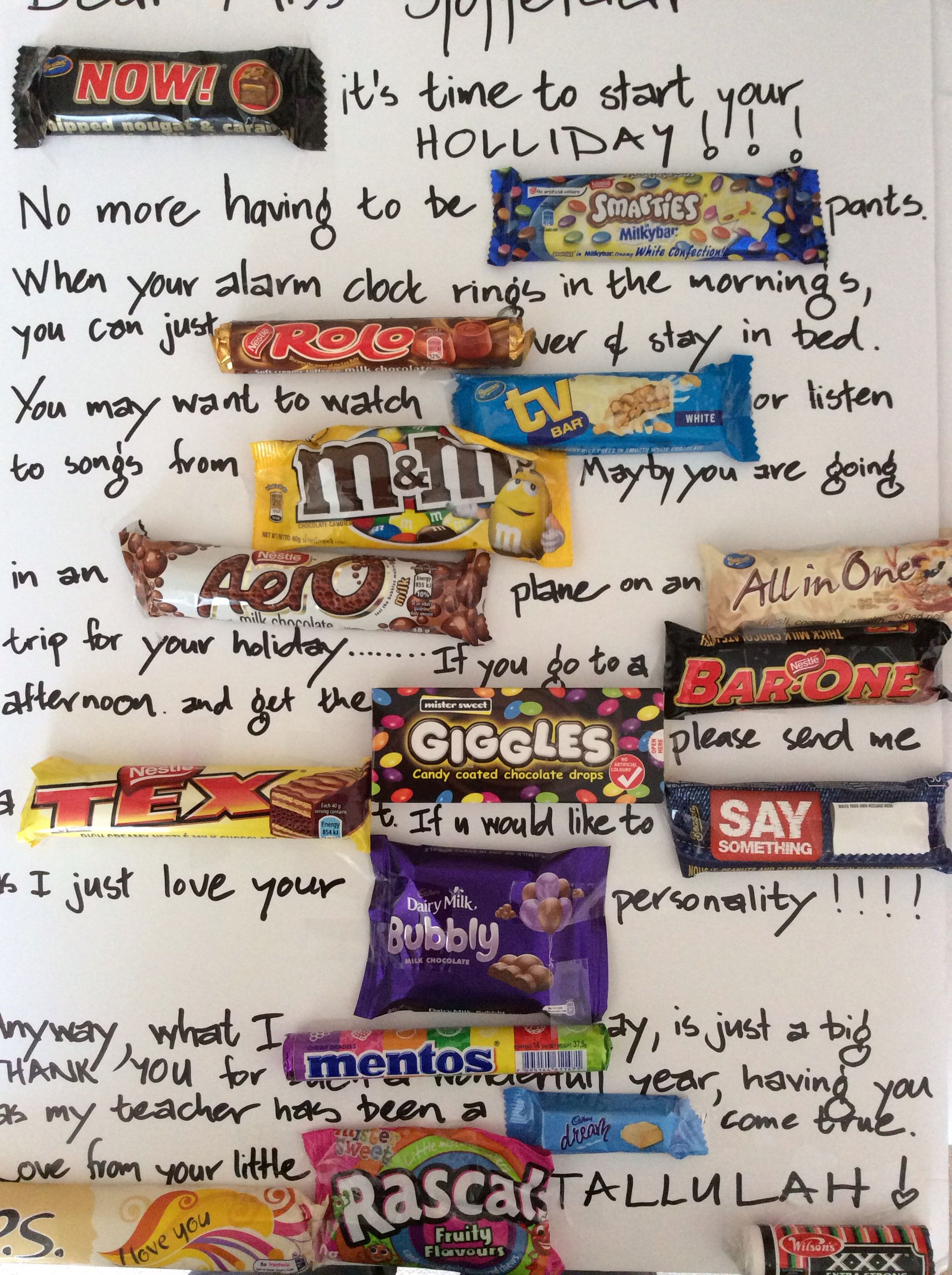 South African Chocolate Letter Board Great School Ideas