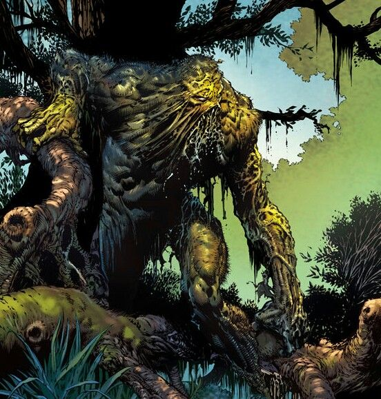 David Finch draws a fantastic Swamp Thing. If only he drew Wonder Woman that well... from Wonder Woman #36; out now!