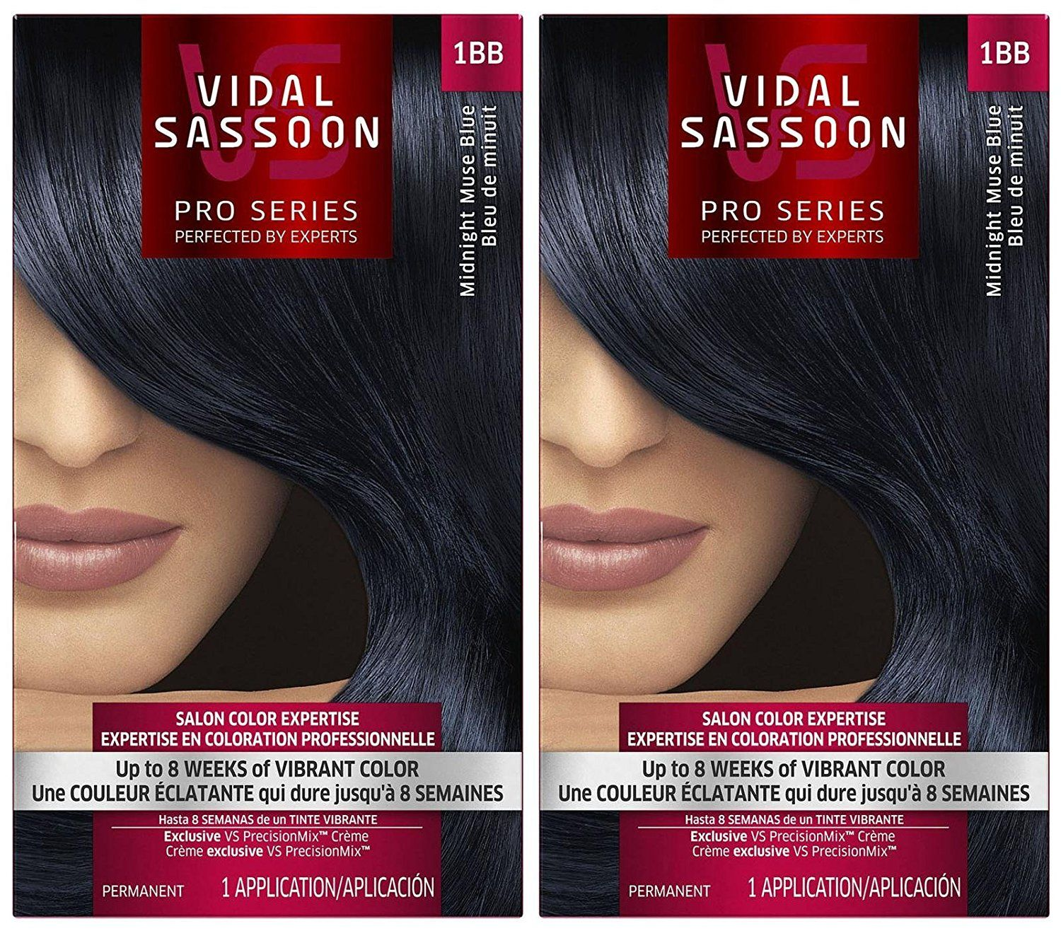 Vidal Sassoon London Luxe Hair Color Midnight Muse Blue 1bb 2