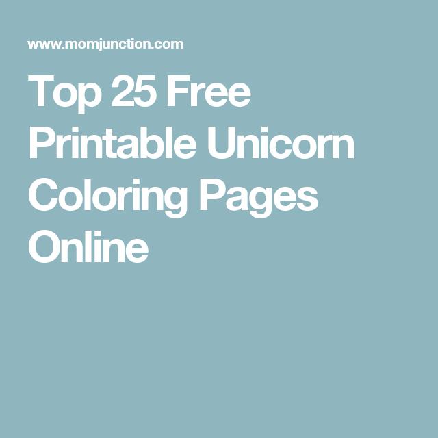 Top 35 Free Printable Unicorn Coloring