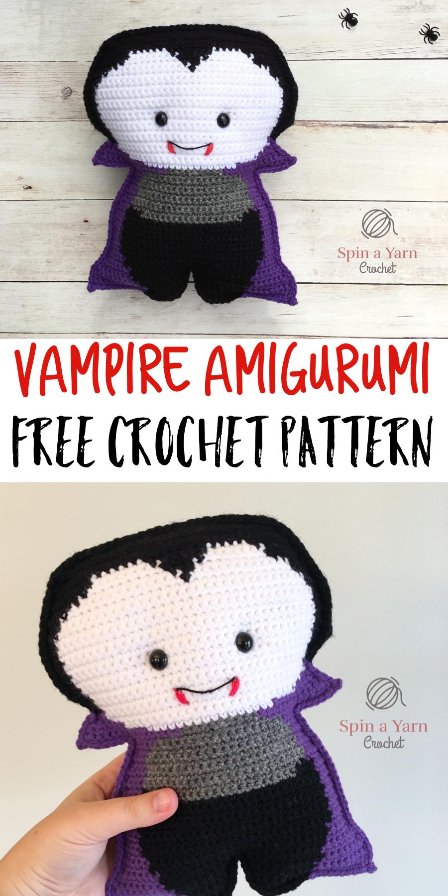 Vampire Amigurumi Free Crochet Pattern | Pinterest | Häkeln ...