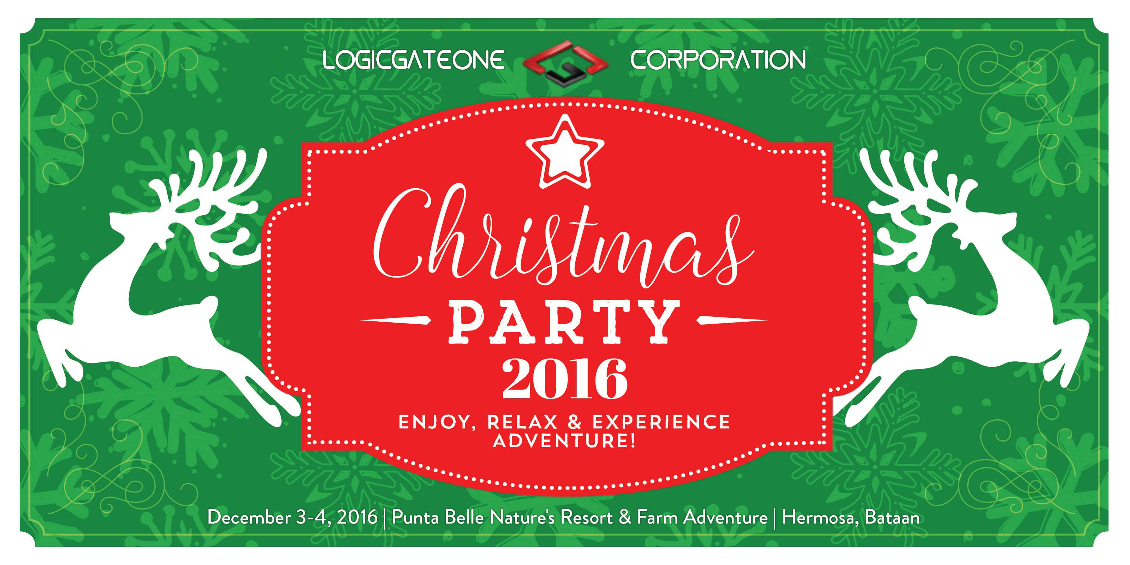 Christmas Party Tarpaulin Concept And Design Layout Christmas