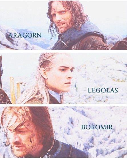 Lord of the Rings - Aragorn, Legolas, Boromir