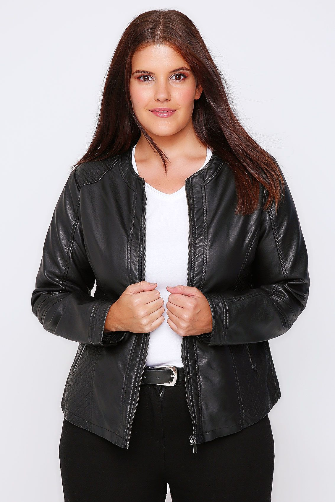 Black Faux Leather & Fur Jacket Jackets, Clothes