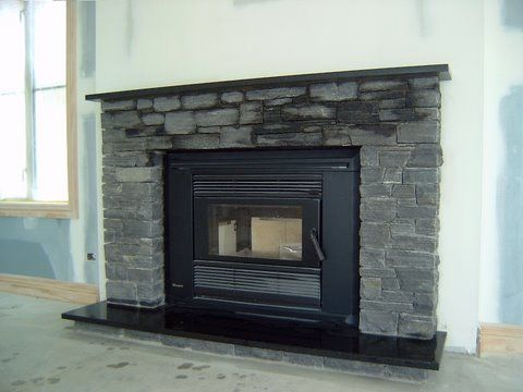 Stone Fireplace With Black Granite Hearth West Coast Schist Fireplace Surround With Black Granite Hearth Shelf Fireplace Granite Hearth Granite Fireplace