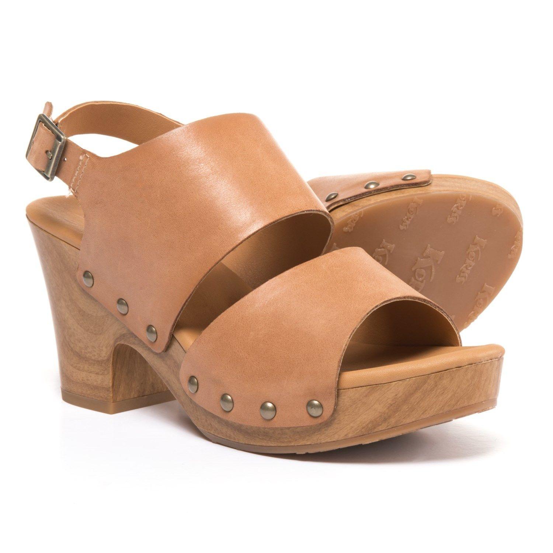 8b386b011cf47 Korks Platform Clog Sandals (For Women) in Tan