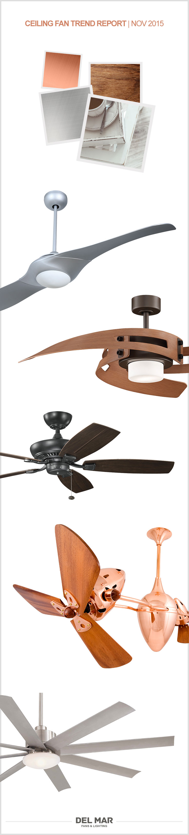 November Ceiling Fan Trend Report Unique Fans Del Mar Fans