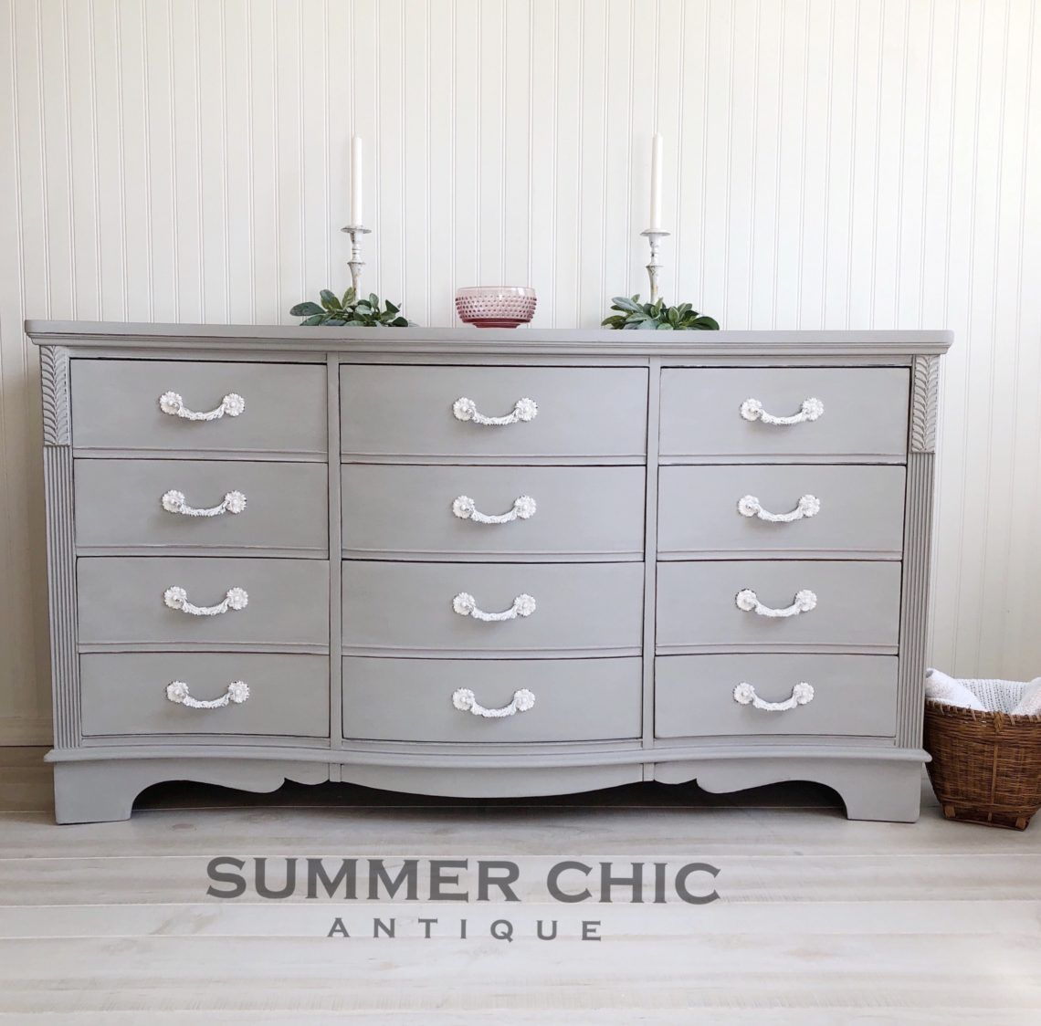 Annie Sloan Paris Gray Chalk Paint Makeover Gray Painted Furniture Painted Bedroom Furniture French Furniture Bedroom