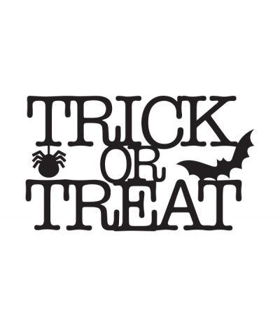 Trick Or Treat Svg File Cricut Halloween Halloween Silhouettes Trick Or Treat