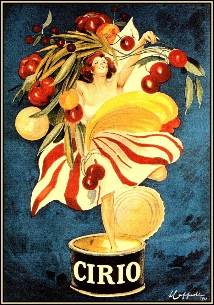 Cirio Foods Vintage Italian Advertising Large Metal Tin Sign Poster ...