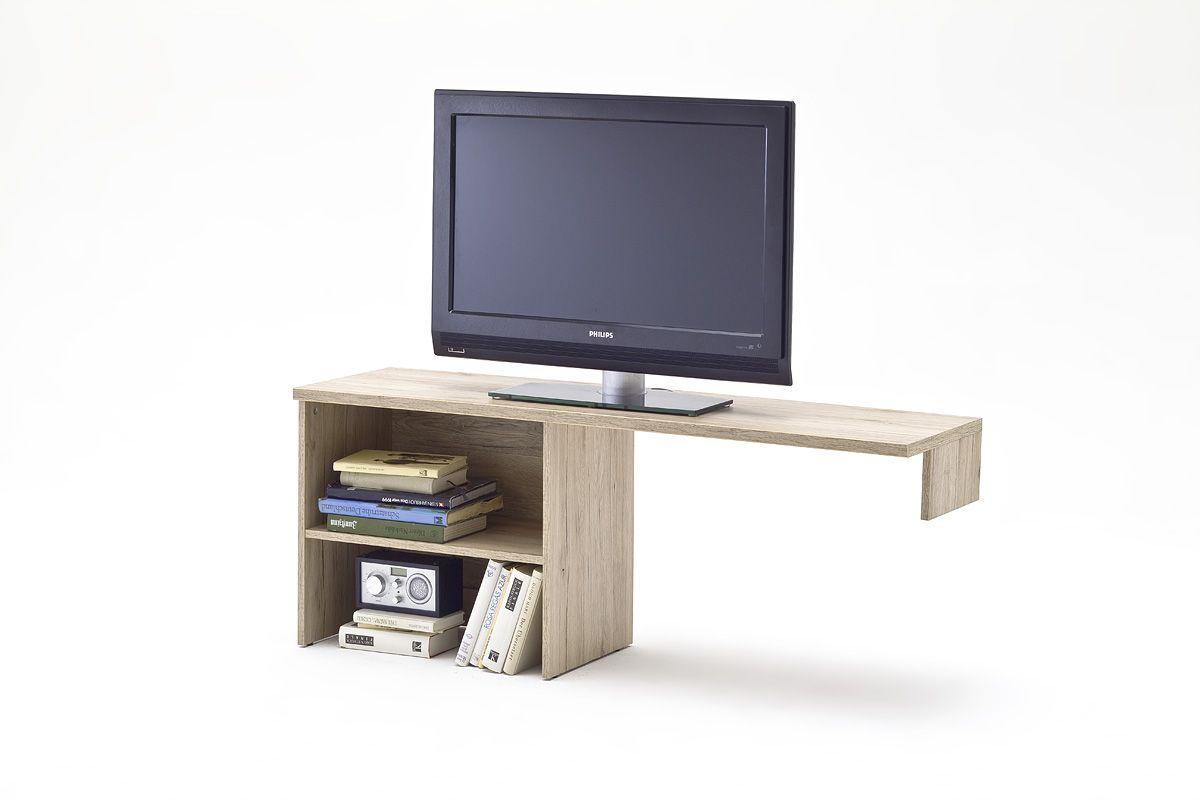 TV Kommode Aufsatzelement Mathilde Hochglanz Weiß und Sanremo Sand passend zum Möbelprogramm Mathilde 1 x TV Aufsatzelement mit 2 offenen Fächern Maße: B/H/T ca. 135...