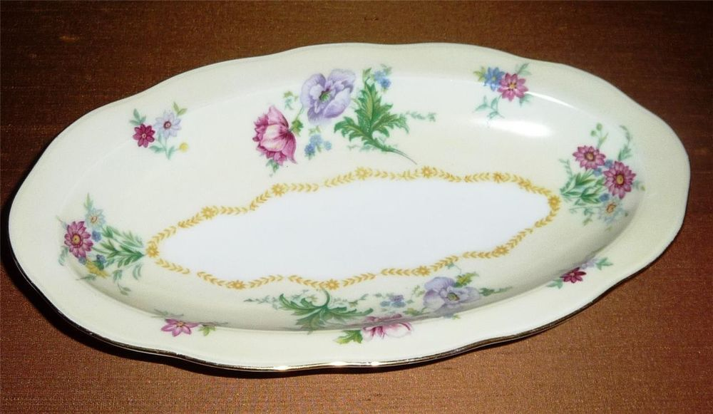 "Vintage F&B Co Bohemia Baronet China Oval Pickle Dish ~ ""Gloria"""