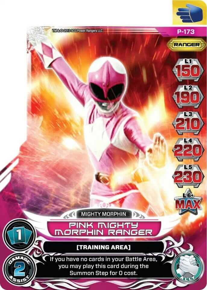 Pink Mighty Morphin Power Ranger Trading Card Power Ranger Cards