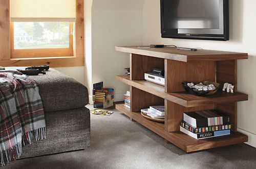 Media Storage in same walnut as your shelves - always have them together going forward?
