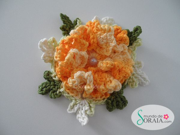 Flor Azaléia | Flores de crochê | Pinterest | Crochet flowers ...