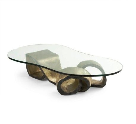 Dallas Coffee Table Hand Forged Bronze Base With Anese Patina Finish Gl Top Working Hands Factory