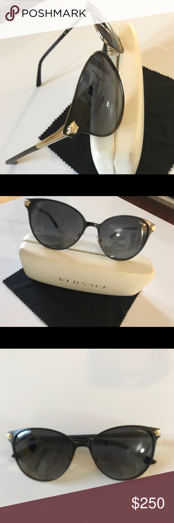 90caedcb44 Black Gold · Lens · Cleaning · Italy · Versace medusa 2168 polarized   black gold Authentic VERSACE Medusa sunglasses Mod  2168. Made in