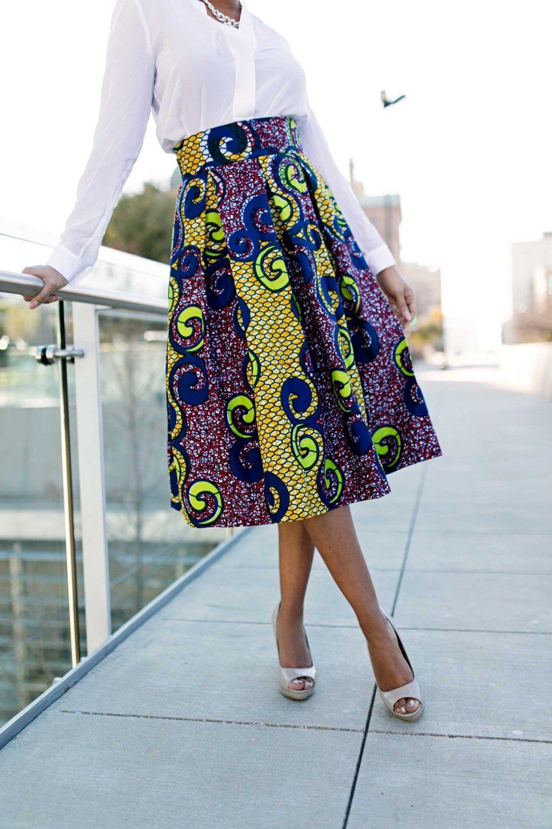Diy Box Pleated Skirt Ankara Skirt Style Sew Me Box Pleat Skirt Pleated Skirt Pattern Pleated Skirt Tutorial