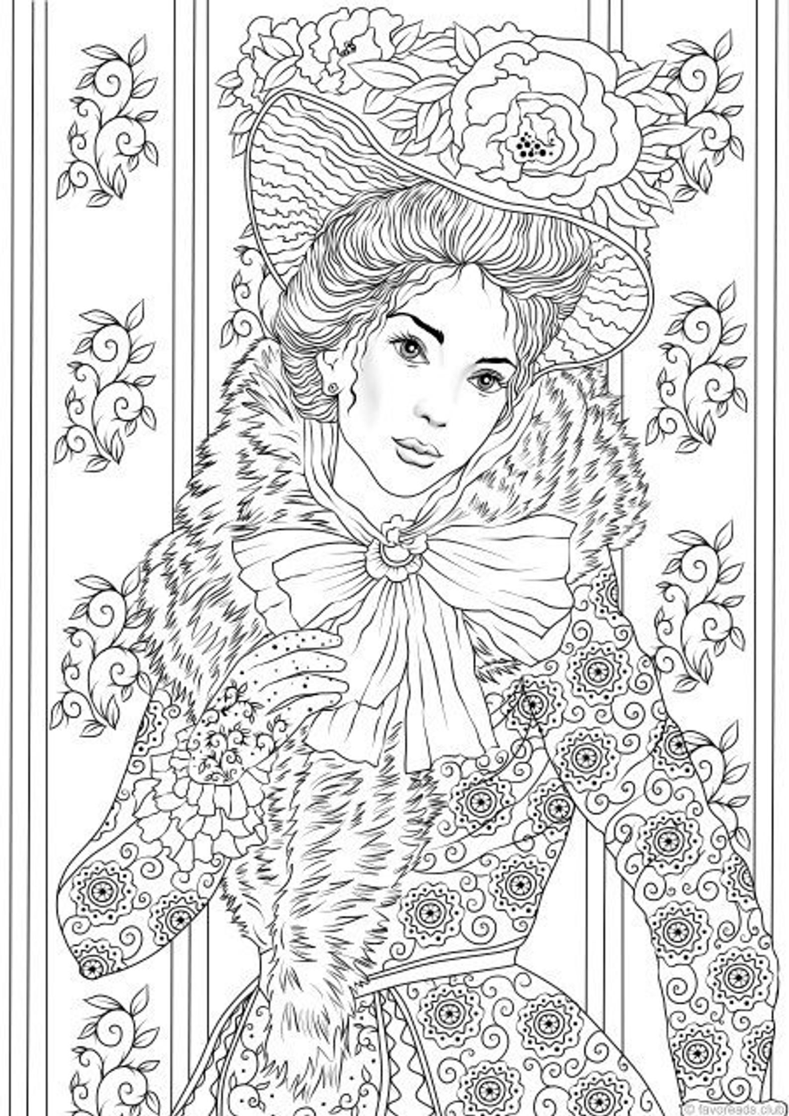 Fancy Outfit - Printable Adult Coloring Page from ...