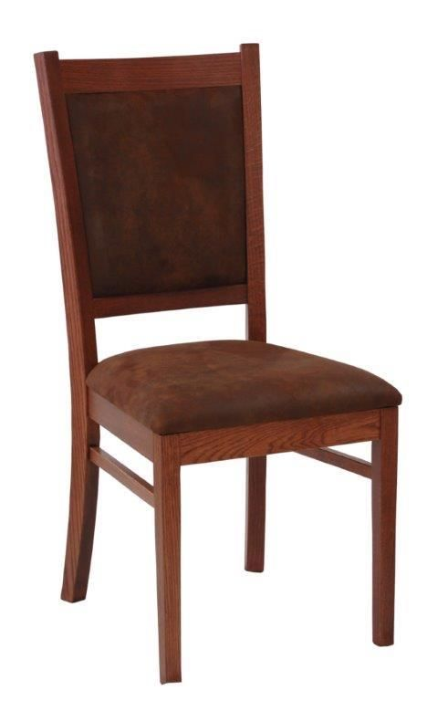 Amish Carla Dining Room Chair Choose red oak wood or brown maple ...