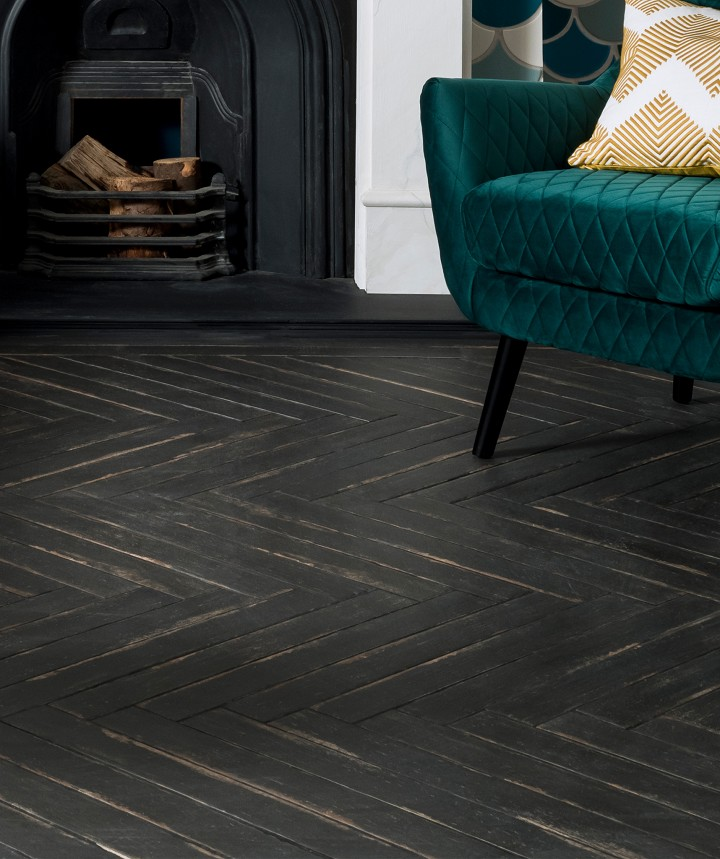 Dartrey™ Black Tile in 2020 Wood tile floors, Wood