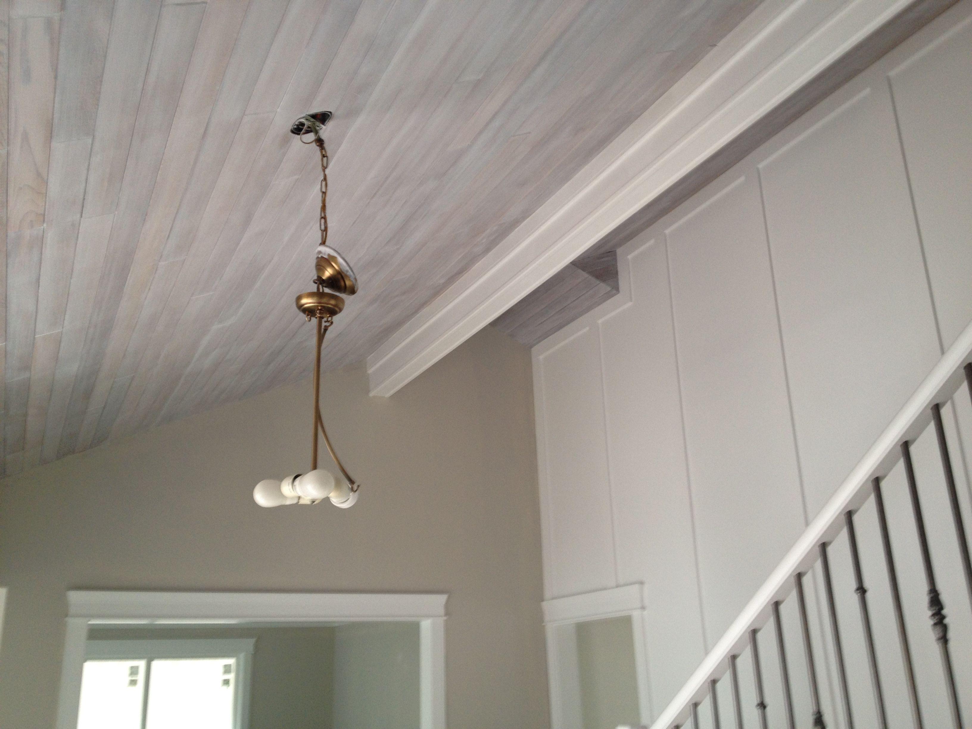 White Washed Cedar Ceiling Beautiful