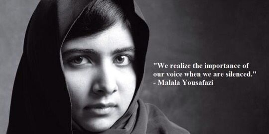 Our right to a voice is profound...choose words