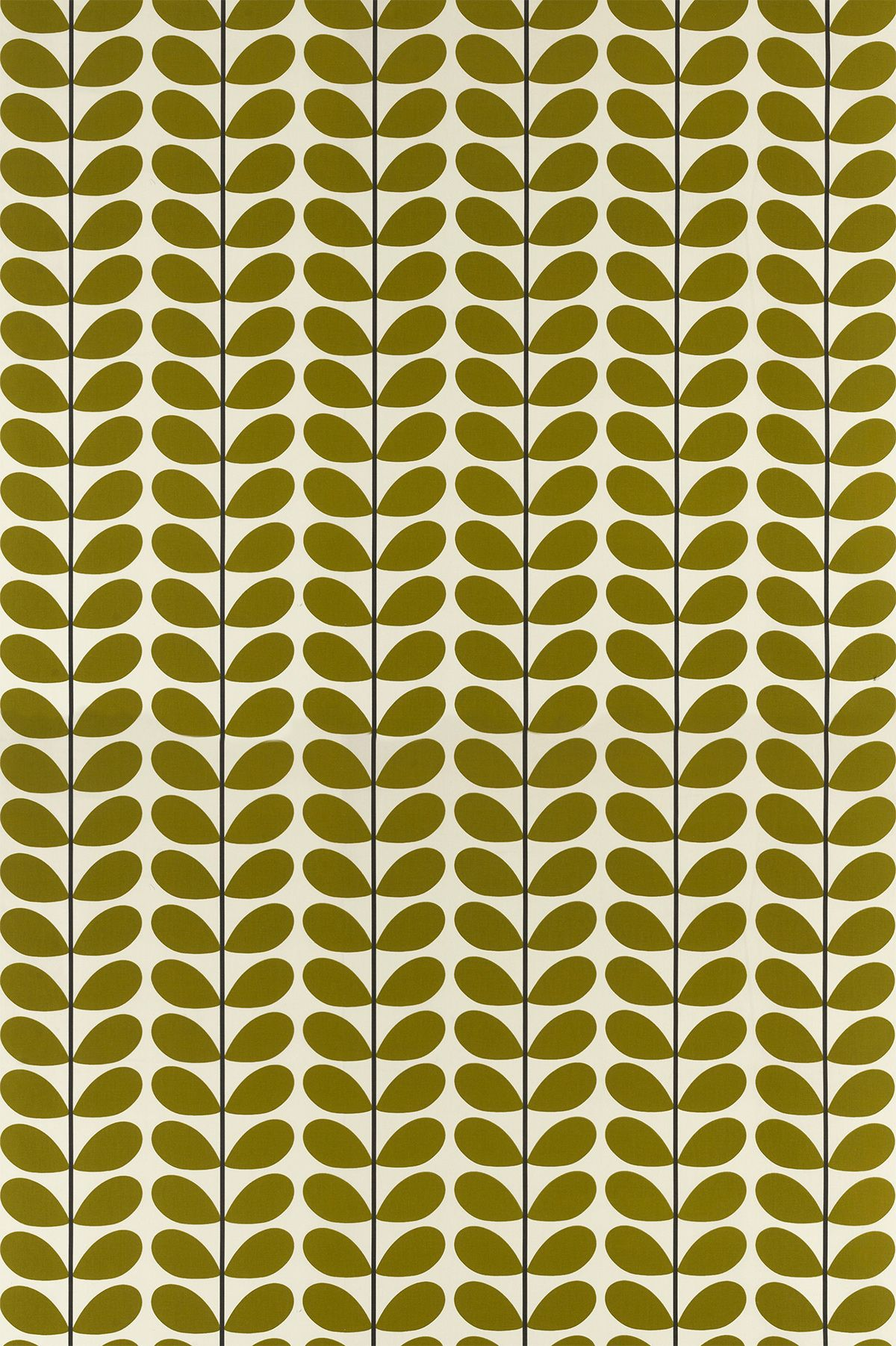 Orla kiely two colour stem olive fabric main image inspiration