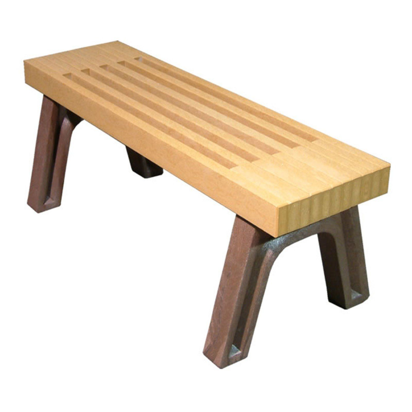 Pleasing Outdoor Polly Products Elite Recycled Plastic Flat Bench Gmtry Best Dining Table And Chair Ideas Images Gmtryco