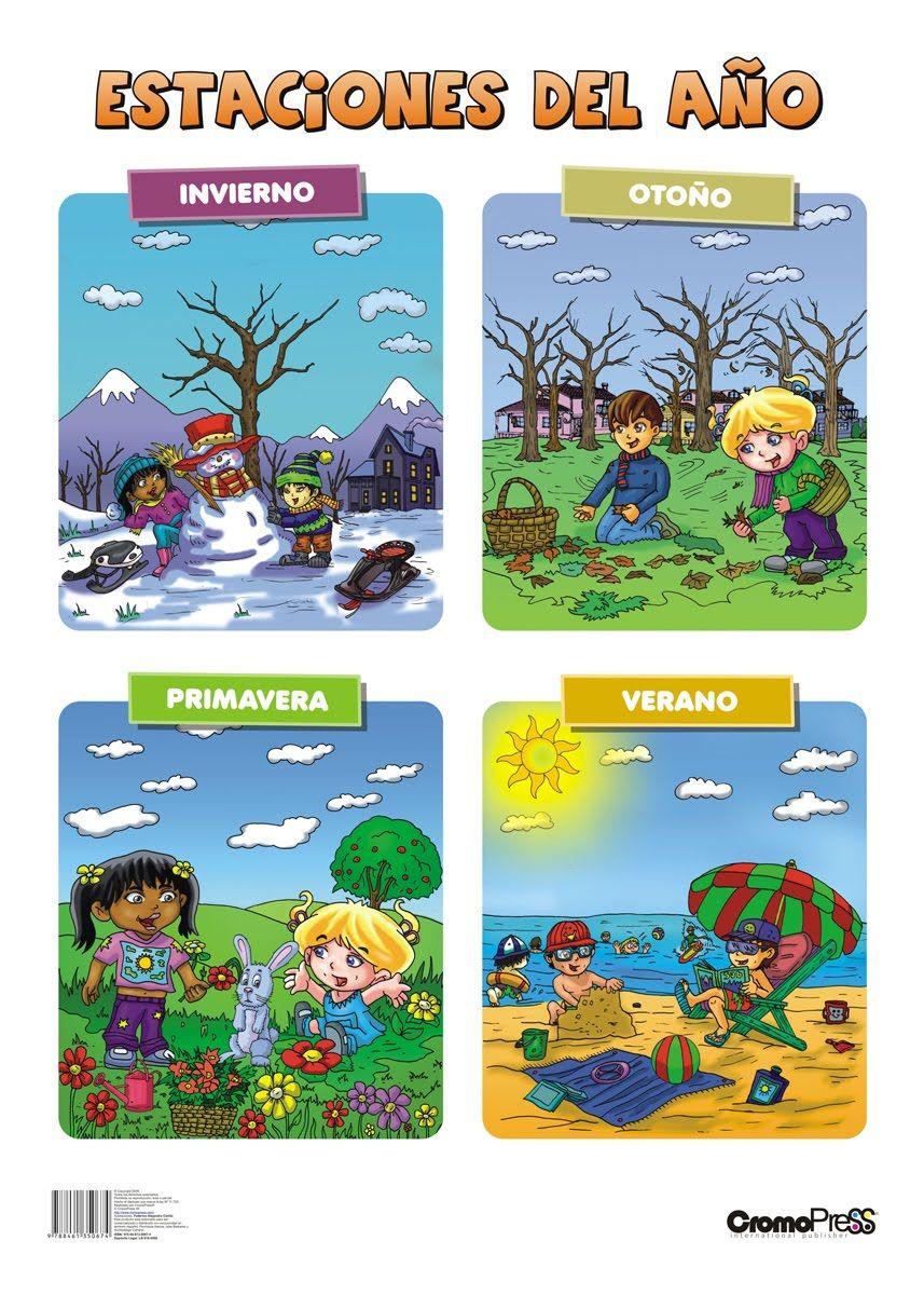 Estaciones Del Ano Estaciones Del Ano Actividades Preescolares Para Otono Actividades De Espanol