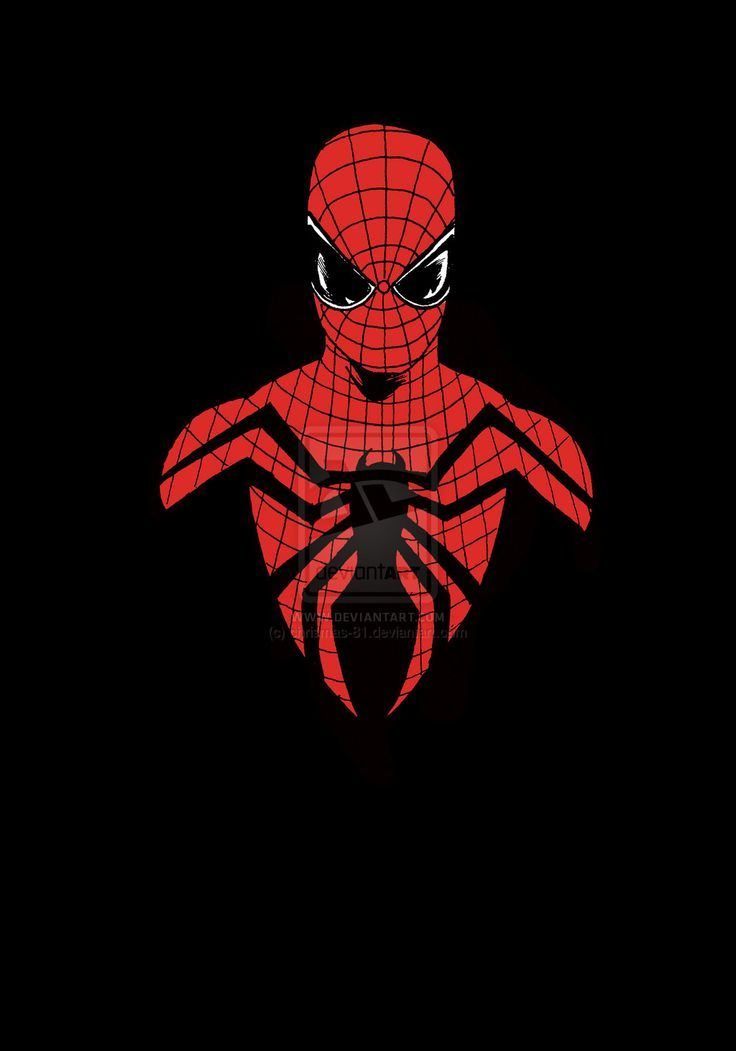 Black Background Spiderman For Iphone Ios Mode A Man