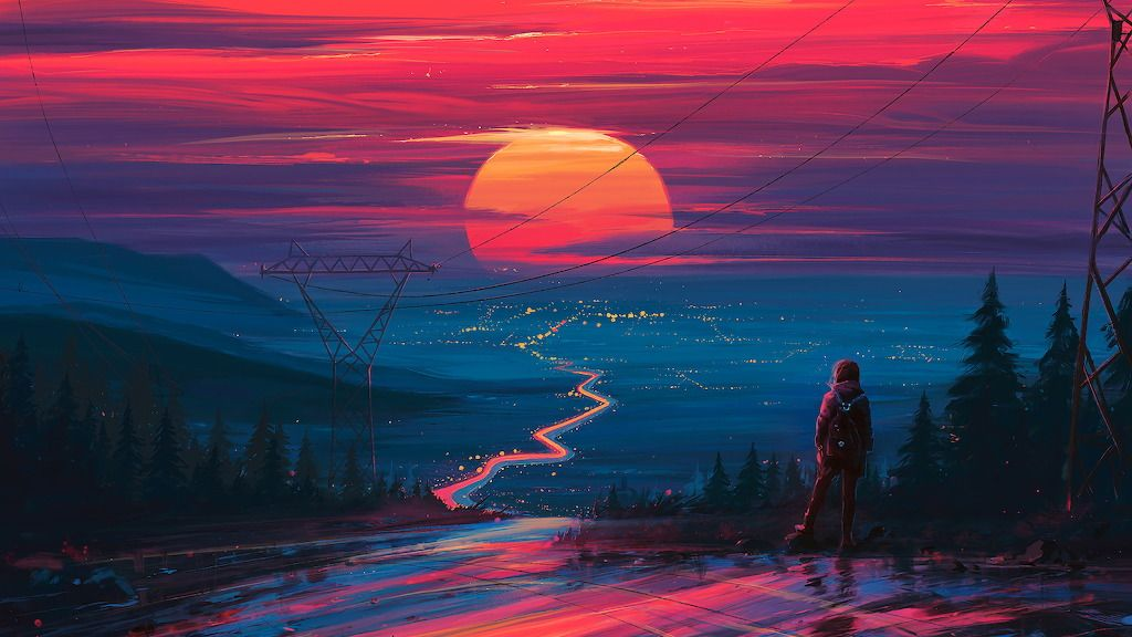 Blockzgg Sunset Sunset Horizon Scenery Landscape Art Uh Fondos De Pantalla Escritorio Descargar Fondos De Pantalla Para Pc Fondos De Pantalla En Movimiento