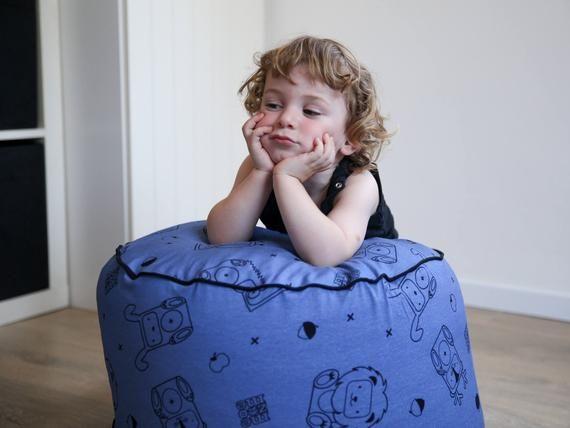 Kids Pouf| kids bean bag chair| Bean bag chair| Floor pouf| Pouffes| pouf seating| kids floor pouf|