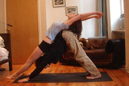 couples yoga  partner yoga womens health magazine yoga