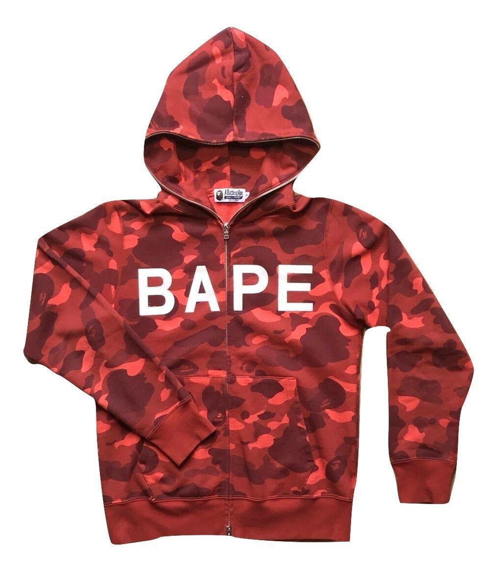 b5418e2d Red Bape Camo Swarovski Hoodie - Medium   Fashion   Bape, Camo ...