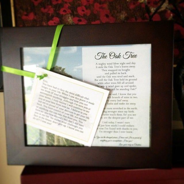Old Oak Tree Poem Plaque With Images Framed Gifts Framed Poem