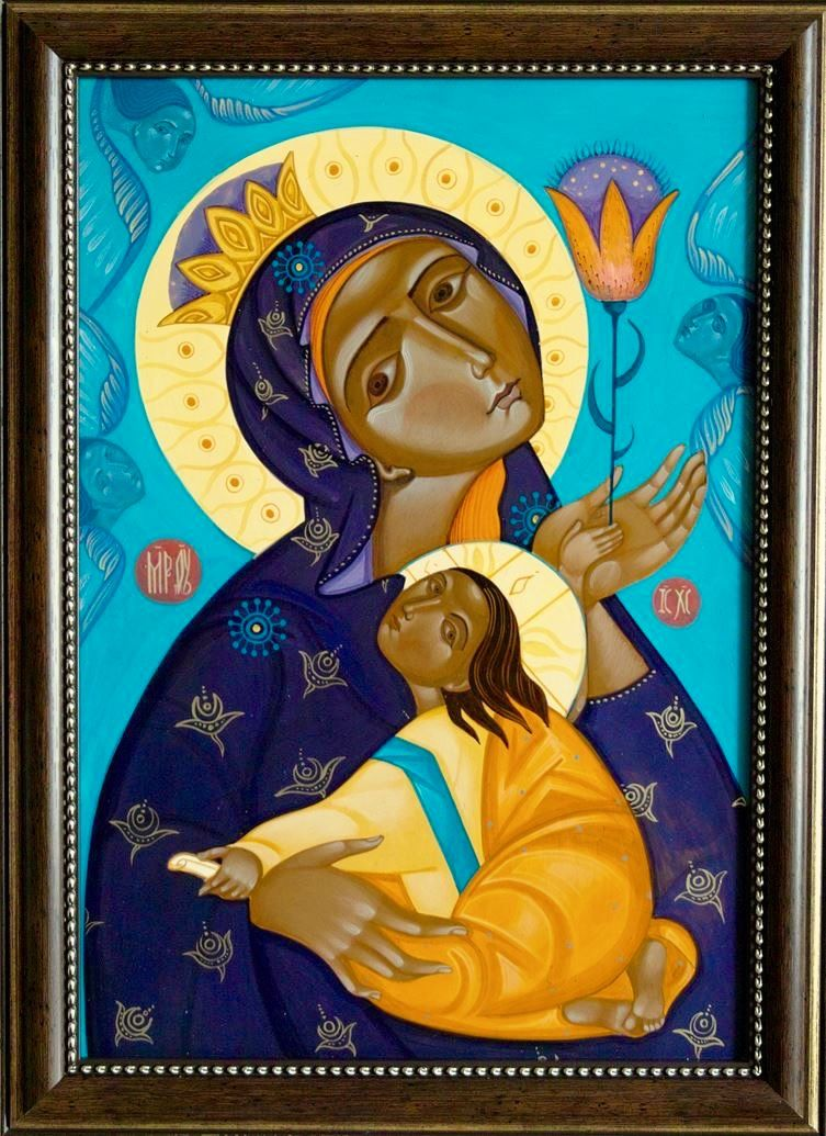 Theotokos (contemporary) by Maryana Flyak