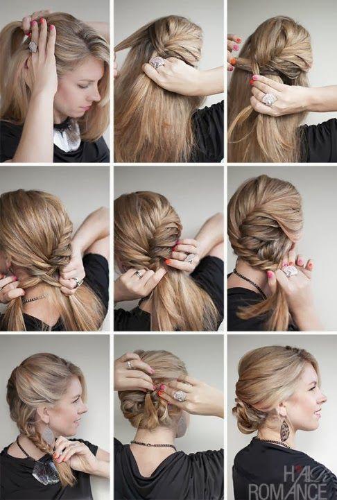 Passo A Passo De Penteado De Festa Hair Penteados Com
