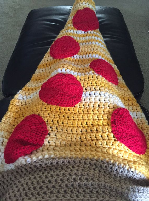 Pizza Crochet Cocoon Food Blanket by AGeekyChicBoutique on Etsy ...