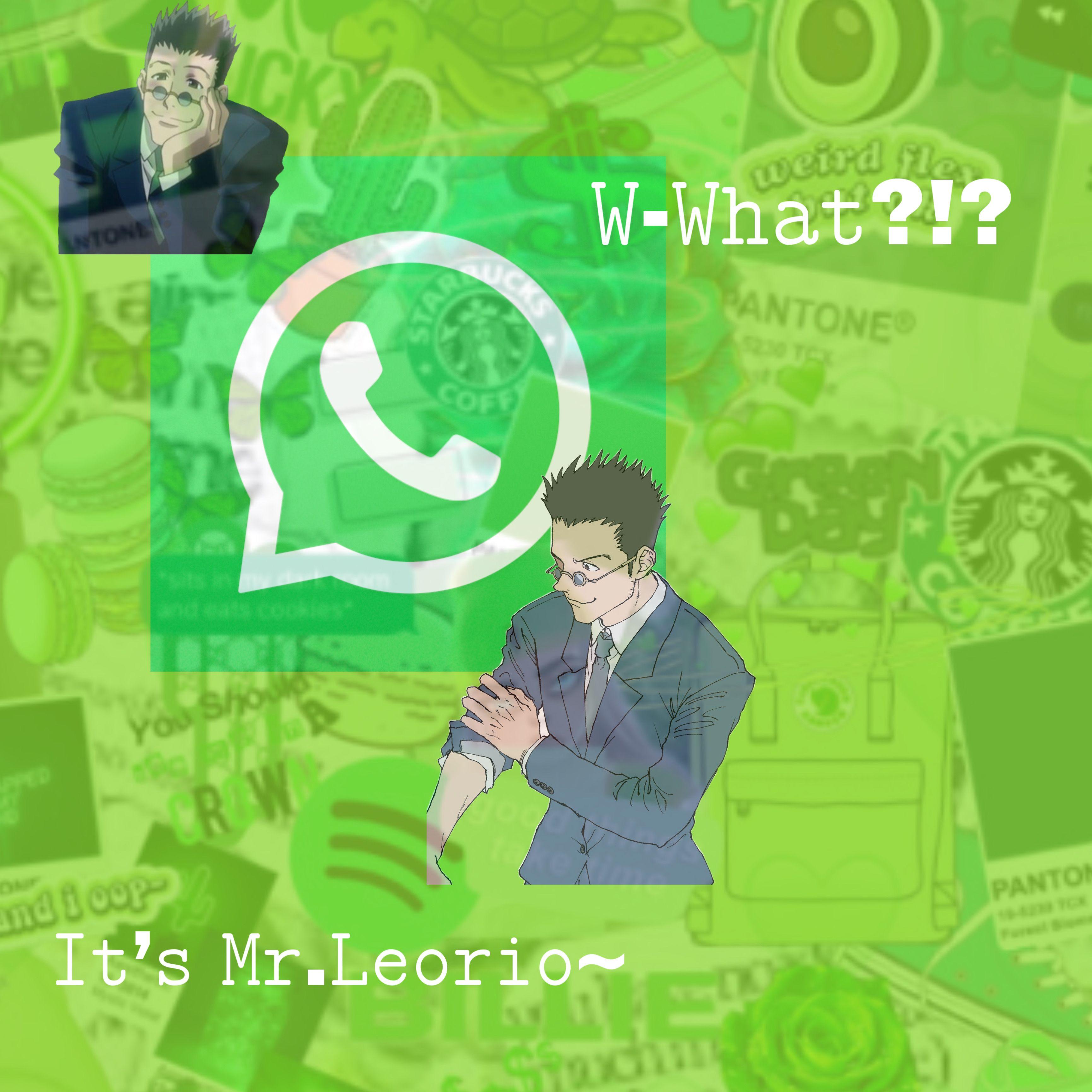 hxh green whatsapp anime icon phone freetoedit in