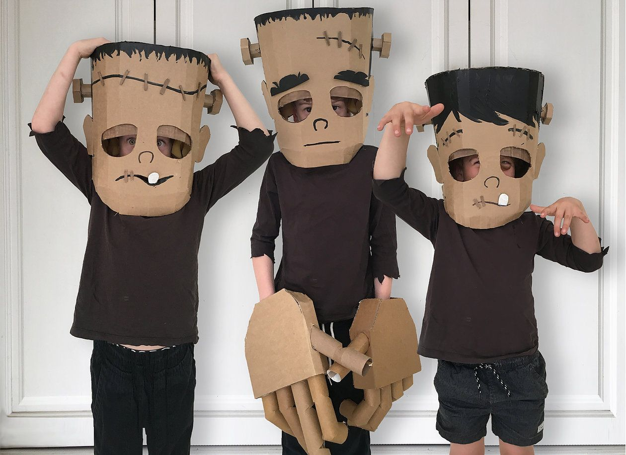 Diy Frankenstein Costume Diy Cardboard Costume Templates Zygote Brown Diy Halloween Costumes For Kids Frankenstein Costume Diy Halloween Costumes For Kids